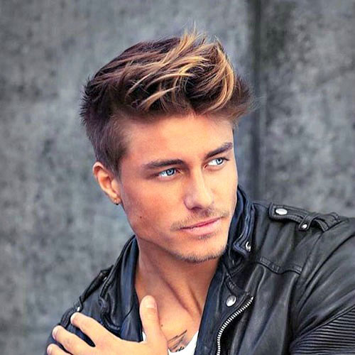 Men's haircut and highlights